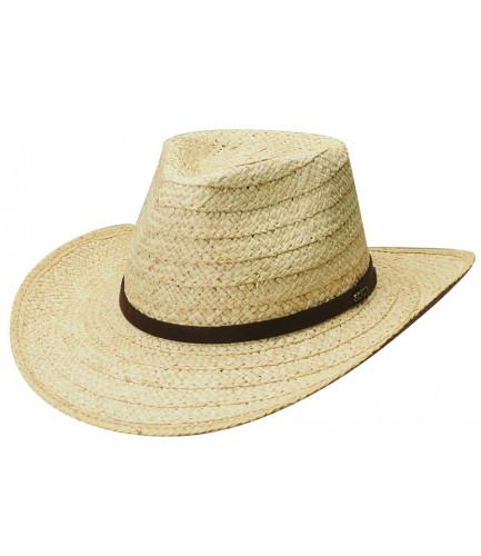 Organic Raffia Hat With Leather Band
