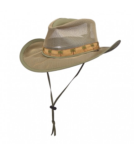 Supplex Nylon Safari Hat With Palm Tree Band