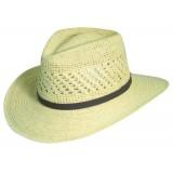 Classic Fine Crocheted Outback Raffia Hat