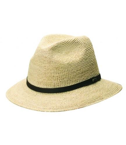 Fine Crocheted Raffia Gambler Hat