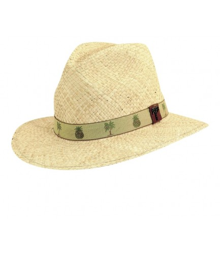 Pineapple And Palm Tree Band Safari Hat