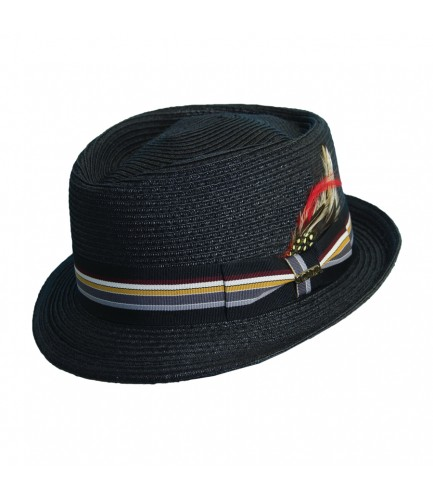 Stripe Ribbon Fedora