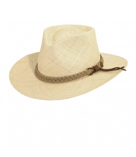 Panama Hat Outback With Braided Jute Band
