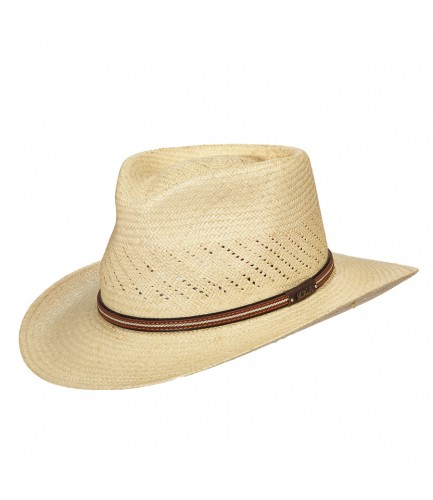 Panama Hat Natural Colored With Leather Detail