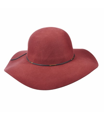 Wool Floppy Hat With Waxed Cord Detail