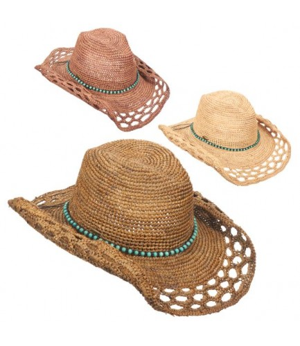 Resort Classic Western Hat With Beads