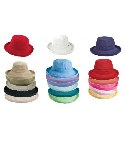 Cotton Sun Hat With Smaller Brim