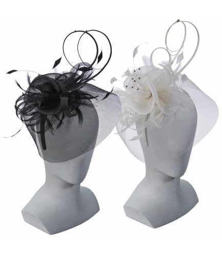 Crinoline and Feather Fascinator