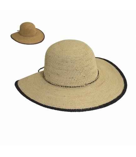 Organic Fine Crocheted Rafia Sun Hat